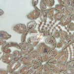 Anastasia Floral Sequins Lace Fabric Brown