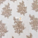 Anastasia Floral Sequins Lace Fabric Coffee
