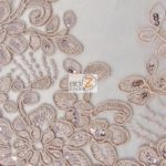 Anastasia Floral Sequins Lace Fabric Dusty Rose