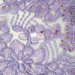 Anastasia Floral Sequins Lace Fabric Lilac