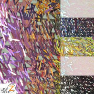 Low Priced Spike Sequins Holographic Mesh Fabric