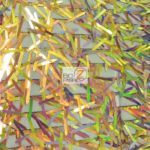 Low Priced Spike Sequins Holographic Mesh Fabric Multi Gold