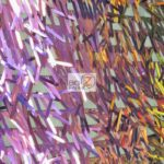 Low Priced Spike Sequins Holographic Mesh Fabric Multi Purple