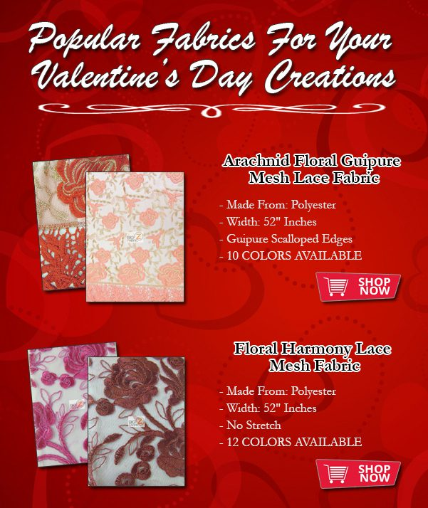 Ideal Fabrics For Valentine's Day!