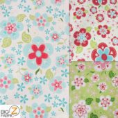 Low Priced Blooms Riley Blake 100% Cotton Duck Fabric