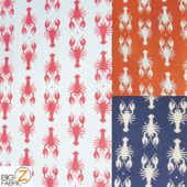 Low Priced Lobster Riley Blake 100% Cotton Duck Fabric