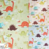 Low Priced Prehistoric Animals Riley Blake 100% Cotton Duck Fabric