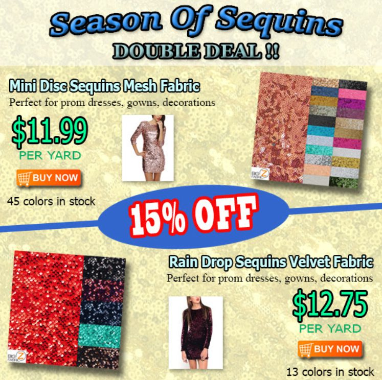 Season of Sequins Double Sale