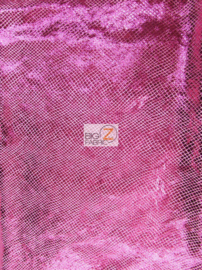 Fuchsia Holographic Mermaid Scales Apparel Spandex Fabric